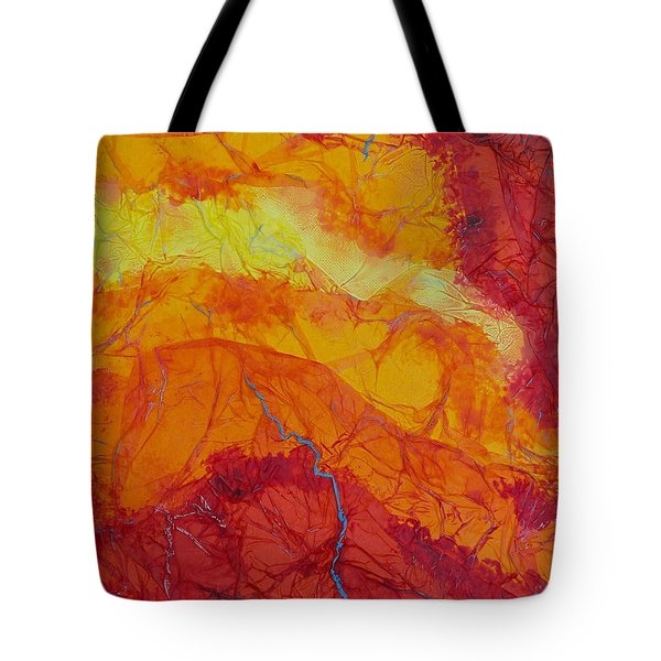 Tote Bag featuring the mixed media The Thin Blue Line by Michele Myers