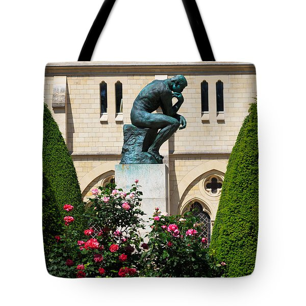 The Thinker By Auguste Rodin Tote Bag by Louise Heusinkveld
