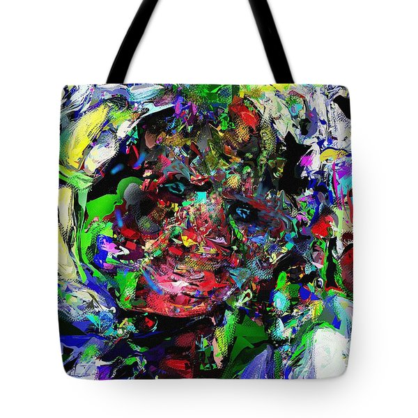 Tote Bag featuring the digital art The Thinker by David Lane