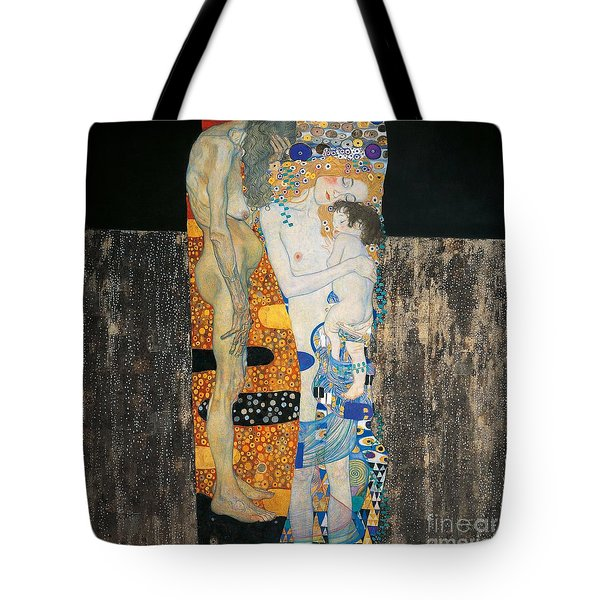 The Three Ages Of Woman Tote Bag by Gustav Klimt
