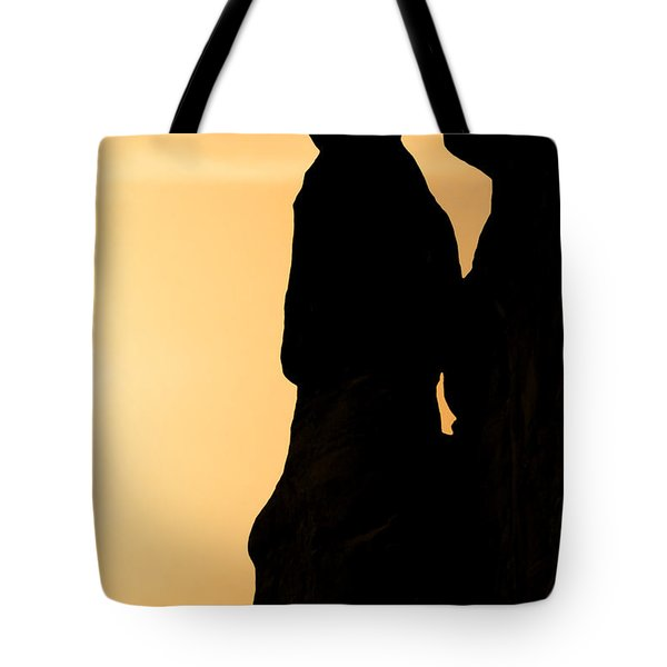 The Three Gossips - Arches National Park Tote Bag by Christine Till