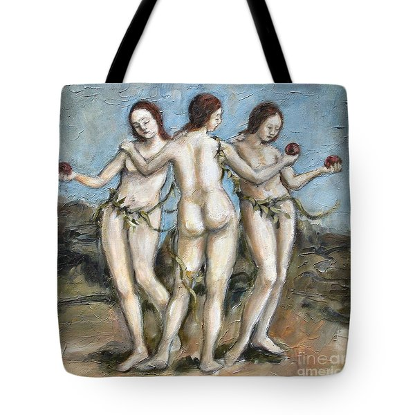 The Three Graces Tote Bag by Carrie Joy Byrnes