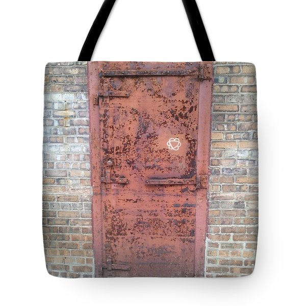 The Three Heart Door. Tote Bag