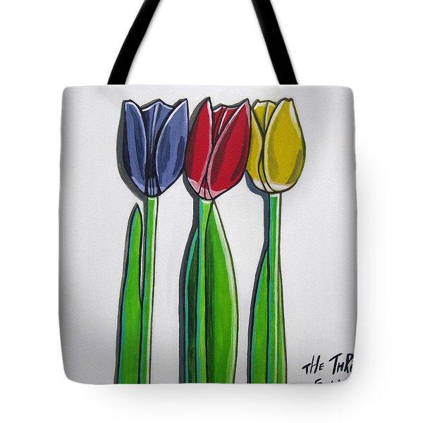The Three Of Us Tote Bag by Sandra Marie Adams