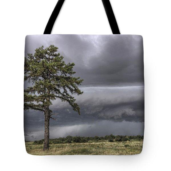 The Thunder Rolls - Storm - Pine Tree Tote Bag
