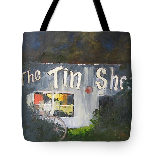 The Tin Shed Tote Bag by Susan Richardson