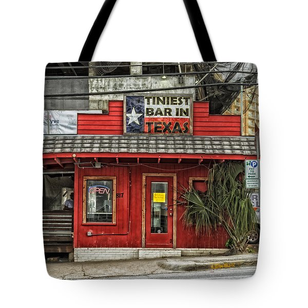 The Tiniest Bar In Texas Tote Bag