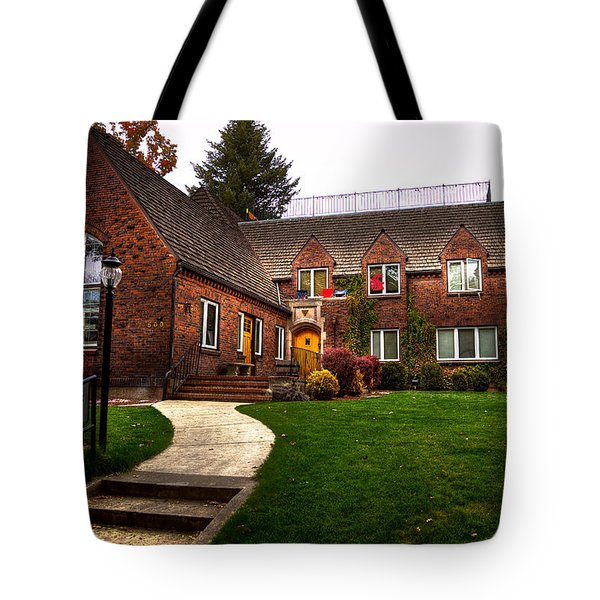 The Tke House On The Wsu Campus Tote Bag by David Patterson