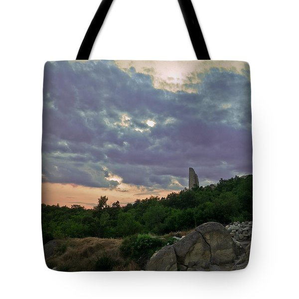 Tote Bag featuring the photograph The Tower by Eti Reid