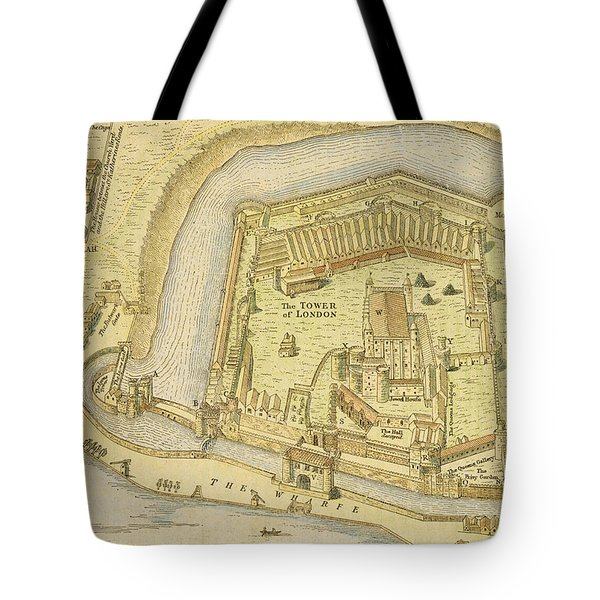 The Tower Of London, From A Survey Made Tote Bag by English School
