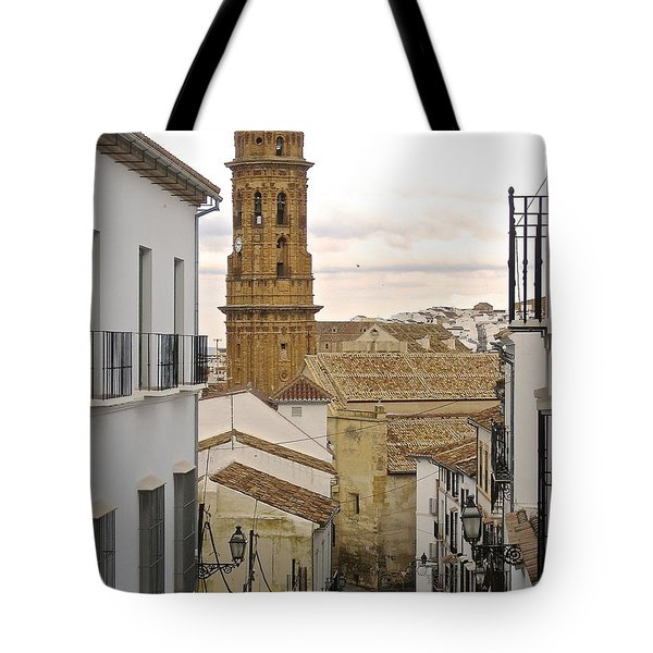 The Town Tower Tote Bag by Suzanne Oesterling
