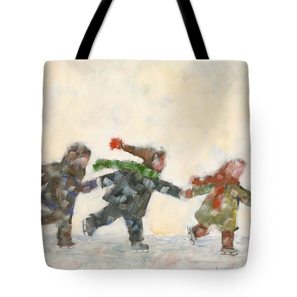 The Train Tote Bag by David Dossett