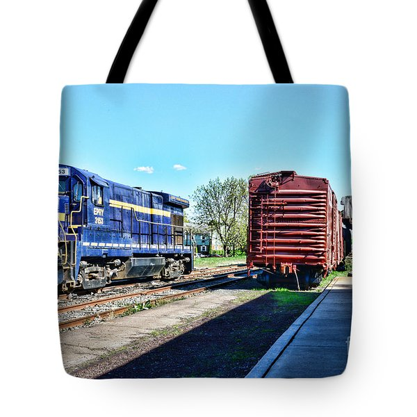 The Train Depot Tote Bag by Paul Ward