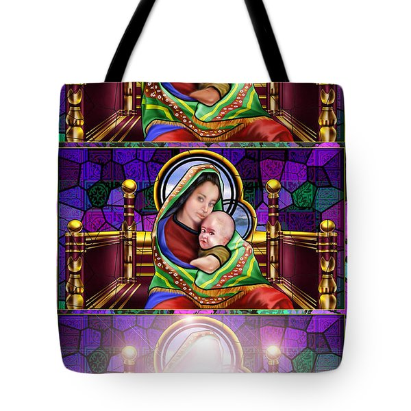 The Transfiguration Of Madonna And Child  Tote Bag by Reggie Duffie
