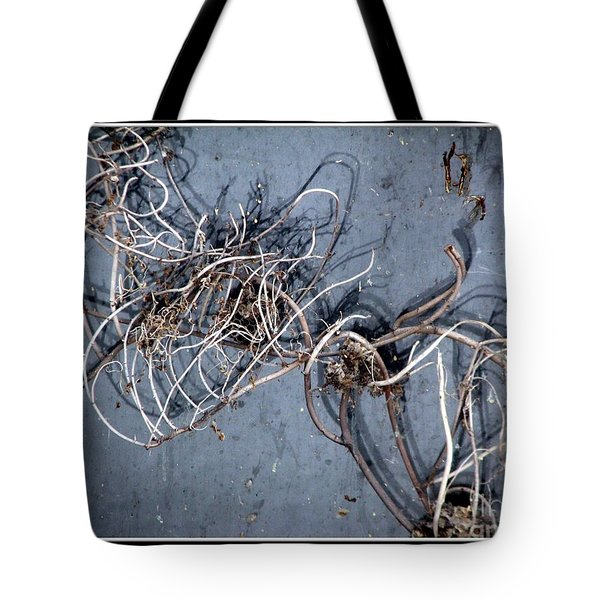 The Trapped Weed Tote Bag by Rose Santuci-Sofranko