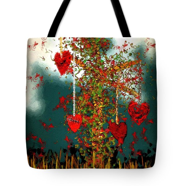 The Tree Of Hearts Tote Bag
