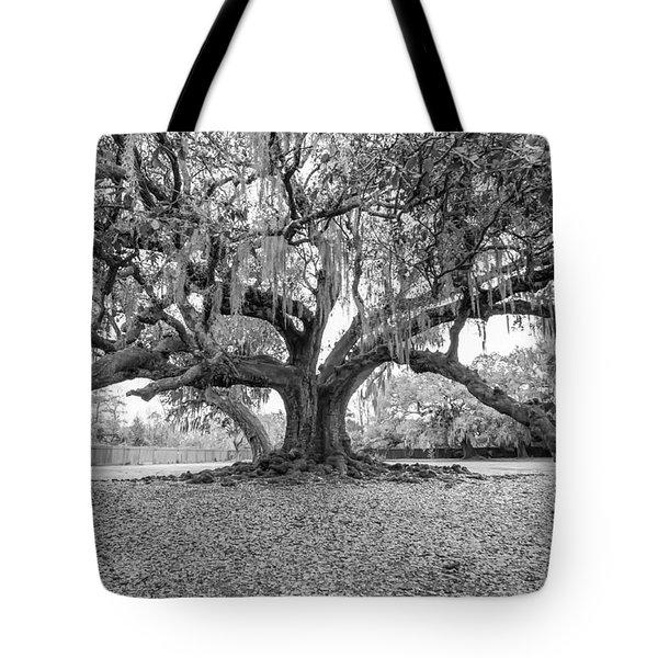 The Tree Of Life Monochrome Tote Bag by Steve Harrington