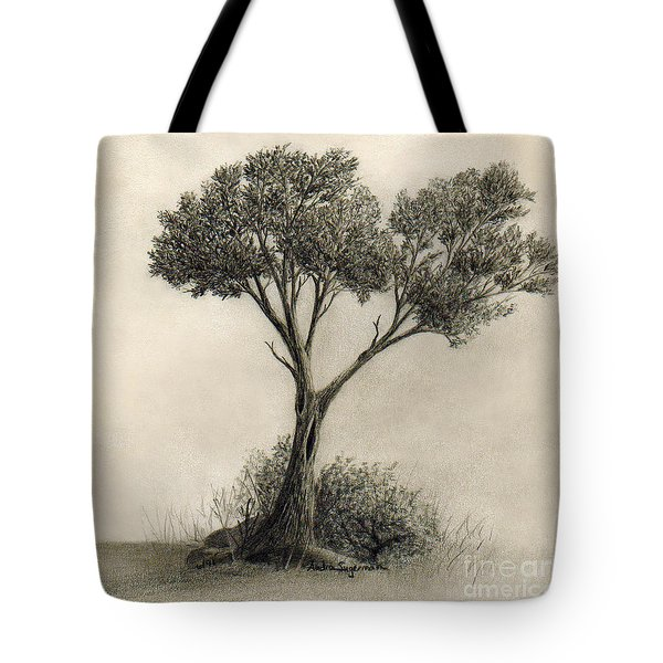 The Tree Quietly Stood Alone Tote Bag by Audra D Lemke