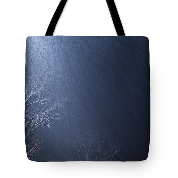 The Tree Under The Snowfall Tote Bag