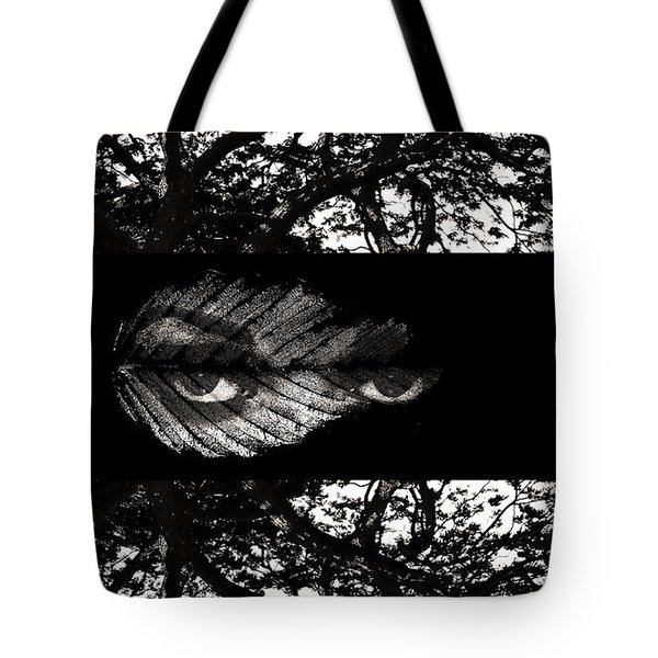 Tote Bag featuring the digital art The Tree Watcher by Nola Lee Kelsey