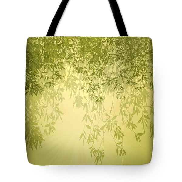 The Trees First Light Tote Bag by Holly Kempe