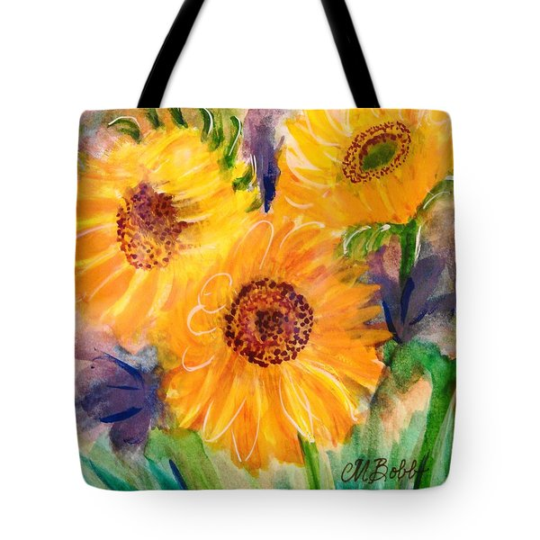 Tote Bag featuring the painting The Trio by Margaret Bobb