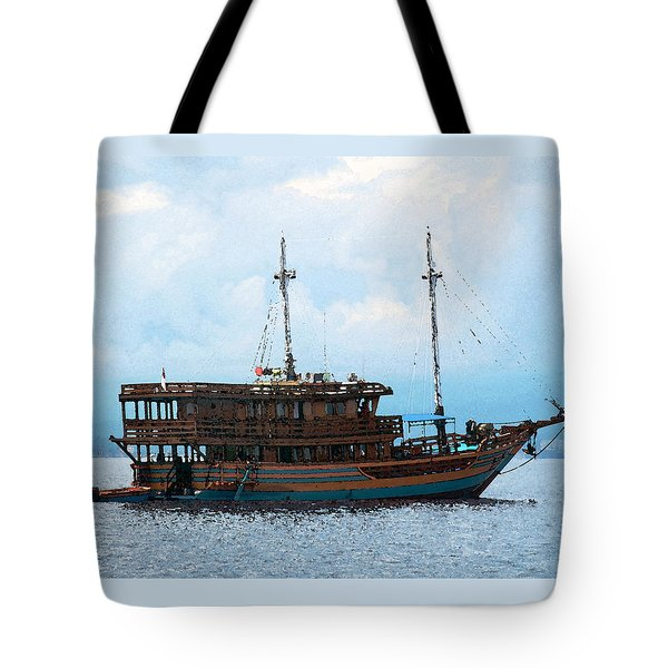 Tote Bag featuring the photograph The Trip To Bunaken by Sergey Lukashin