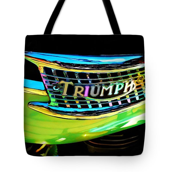 The Triumph Petrol Tank Tote Bag