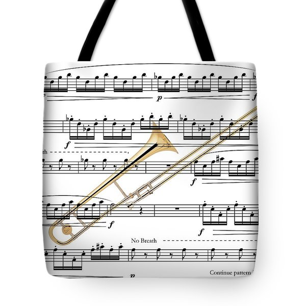 The Trombone Tote Bag by Ron Davidson