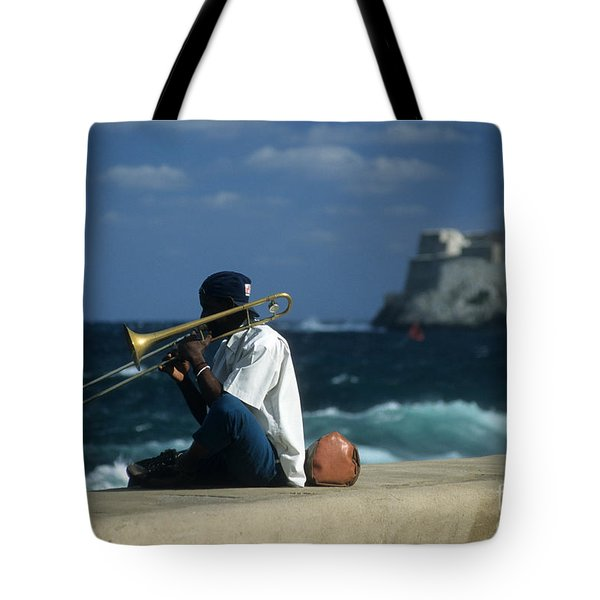 The Trombonist Tote Bag