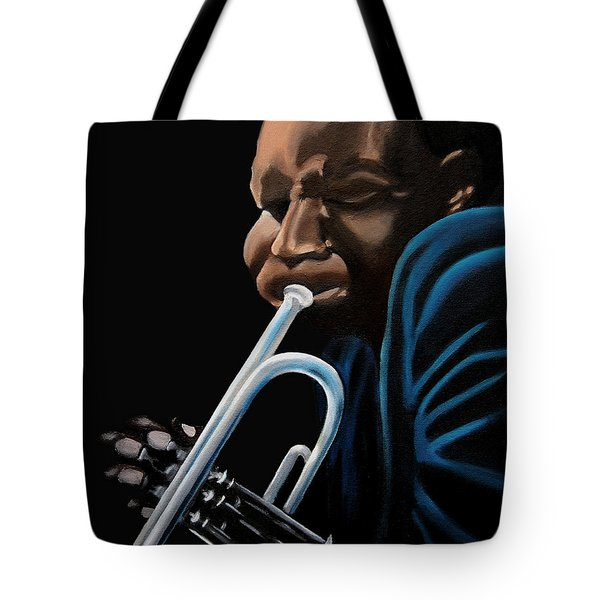 Tote Bag featuring the painting The Trumpeter by Barbara McMahon