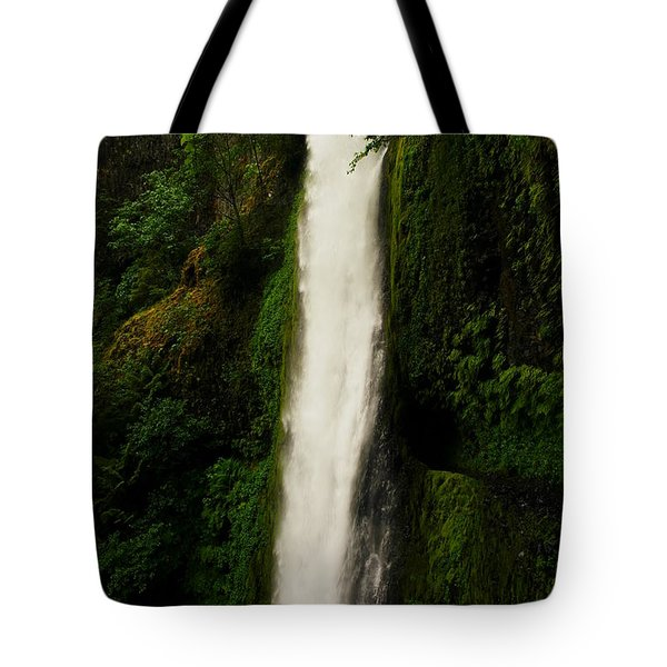 The Tunnel Behind Tunnels Falls Tote Bag by Jeff Swan