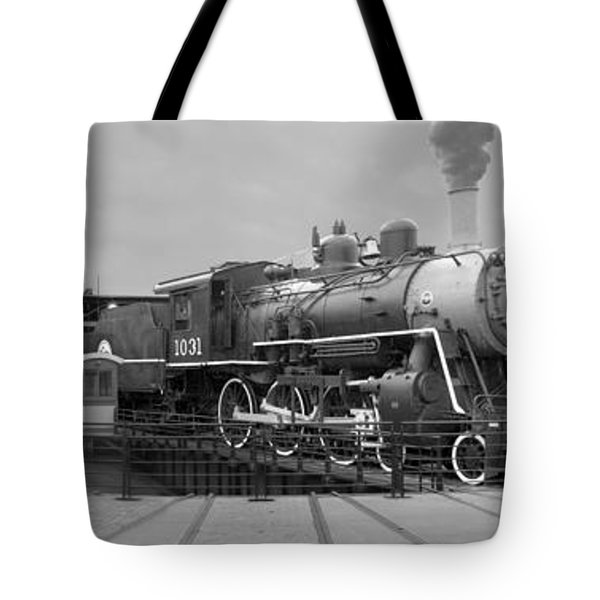The Turntable And Roundhouse Tote Bag by Mike McGlothlen