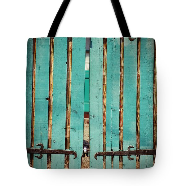 The Turquoise Gate Tote Bag by Holly Blunkall
