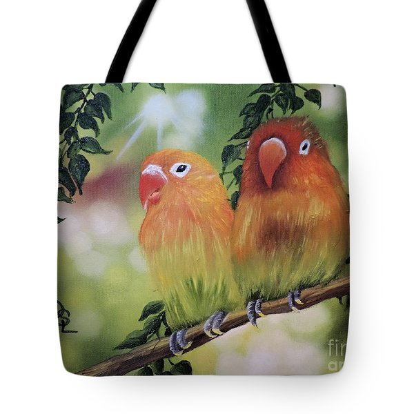 The Tweetest Love Tote Bag by Dianna Lewis