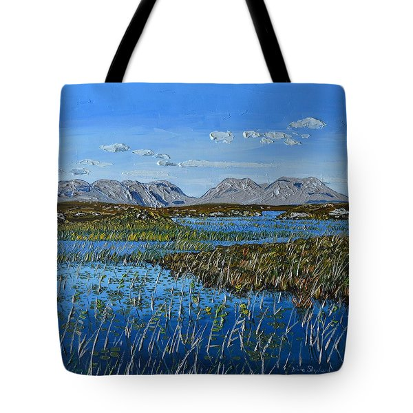 The Twelve Bens Mountains Connemara Co Galway Ireland Tote Bag