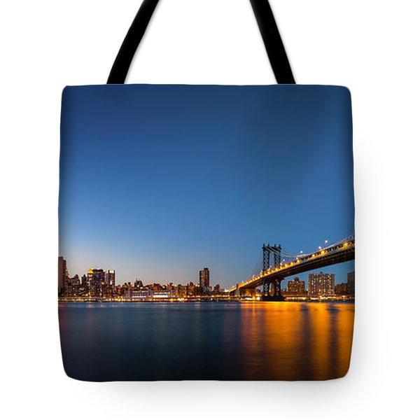 Tote Bag featuring the photograph The Two Bridges by Mihai Andritoiu