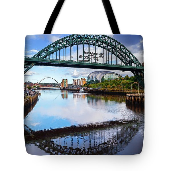 The Tyne Road Bridge With The Sage Tote Bag