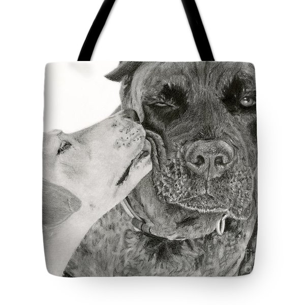 The Unconditional Love Of Dogs Tote Bag by Sarah Batalka