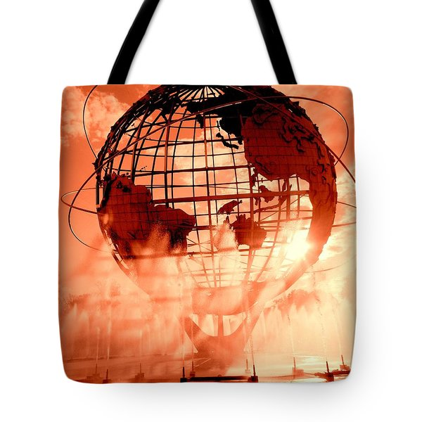 The Unisphere And Fountains Tote Bag by Ed Weidman