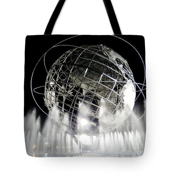 The Unisphere's 50th Anniversary Tote Bag by Ed Weidman