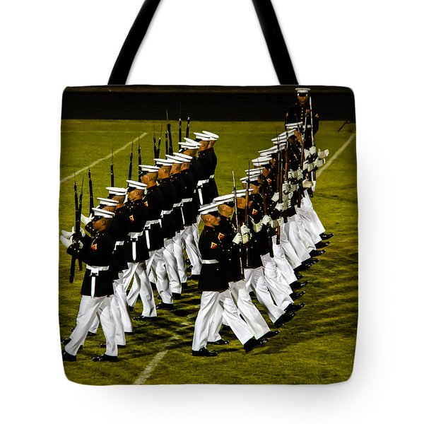 The United States Marine Corps Silent Drill Platoon Tote Bag