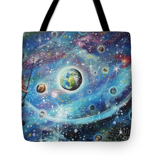 The Universe Is My Playground Tote Bag by Dariusz Orszulik