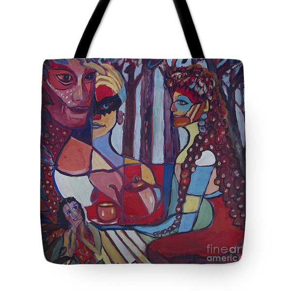Tote Bag featuring the painting The Unknown Story by Avonelle Kelsey