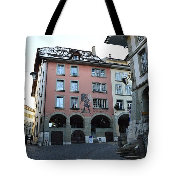 Tote Bag featuring the photograph The Upper Town by Felicia Tica