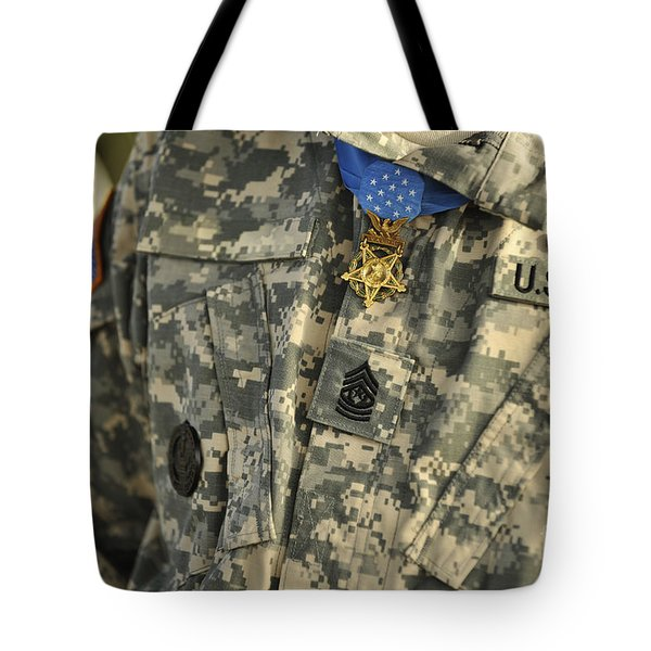The U.s. Army Medal Of Honor Is Worn Tote Bag by Stocktrek Images