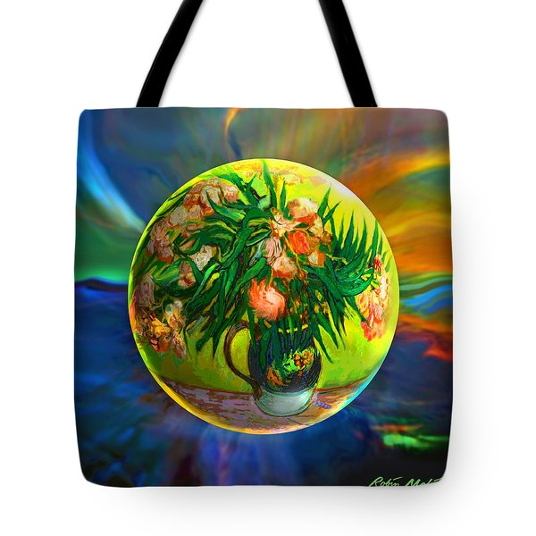 Tote Bag featuring the painting The Van Gloughing Vase by Robin Moline