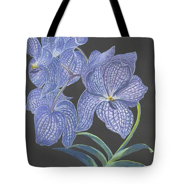 The Vanda Orchid Tote Bag by Carol Wisniewski