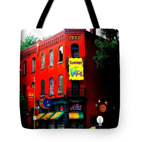 The Venice Cafe' Edited Tote Bag by Kelly Awad