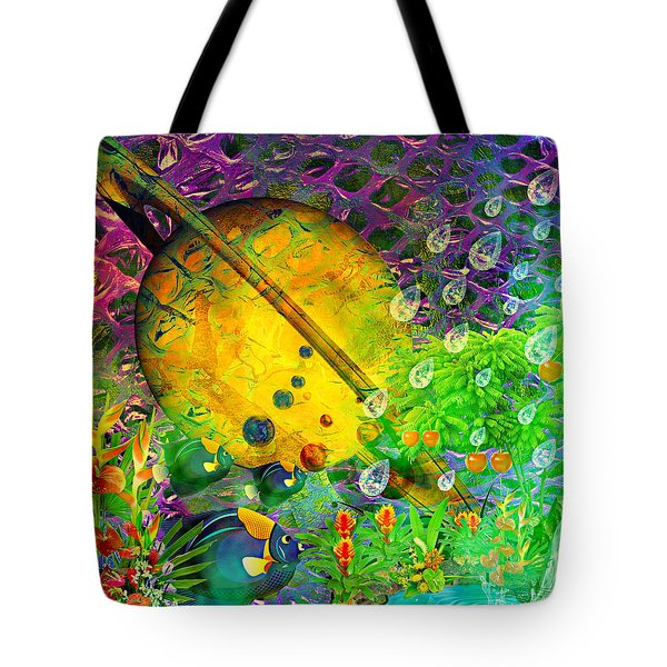 The View From A Moon Tote Bag by Ally  White
